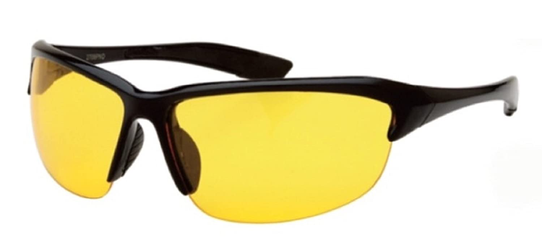 821da120abc Half Frame Sport Wrap Around Yellow HD Night Driving Glasses Sunglasses