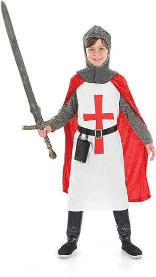 Fun Shack Rojo Caballero Cruzado Disfraz para Niños - S: Amazon.es ...