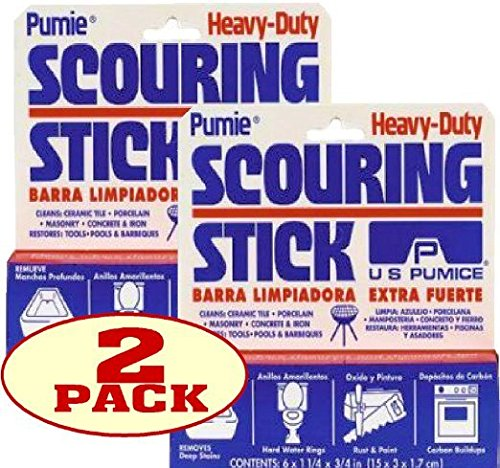 U.S. Pumice 1001 Scouring Stick, Pack of 2 (Best Way To Remove Calcium From Toilet)