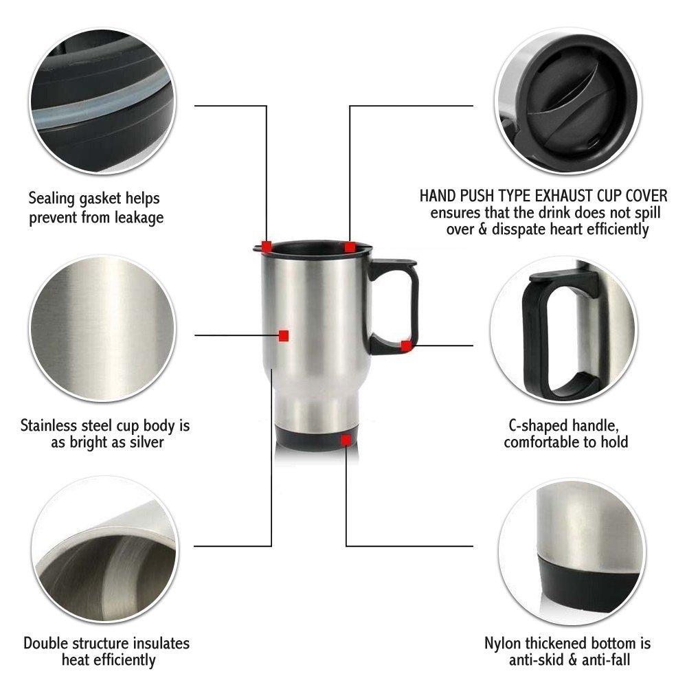 Mother's Day Gift Mug - 14oz Military Mug, Proud U.S. Army MOM Strong Best Choice (Sliver) Mug Stainless Steel Travel Mugs for Coffee or Tea