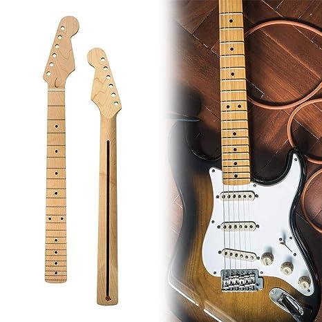 Cuello de guitarra eléctrica Wonderday, diapasón de arce de 22 ...