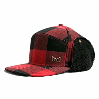 fa9b272ed85 Melin Lumberjack Snapack Hat - (Red Black)  Amazon.co.uk  Clothing