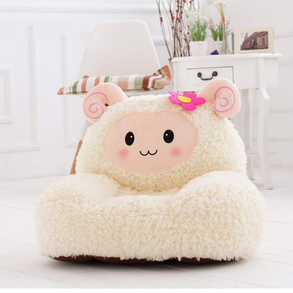 WAYERTY Children Sofa, Children's Armchair Sheep Plush Kid Chair Perfectly Designed for Your Child's Room or Nursery-Pink W54xH45cm(21x18inch)