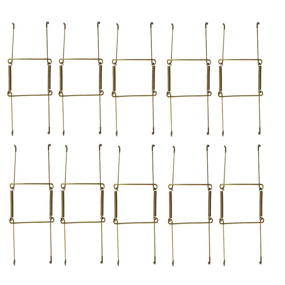 WISHAVE 10 Pack 6-inch Scratch-proof Invisible Plate Display Hangers for The Wall Decoration Expandable to Hold 5'' to 7'' Dishes by WISHAVE
