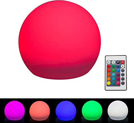 Color Changing LED RGB Moon Night Light Movable Glowing Ball Kids Bedroom Lamp