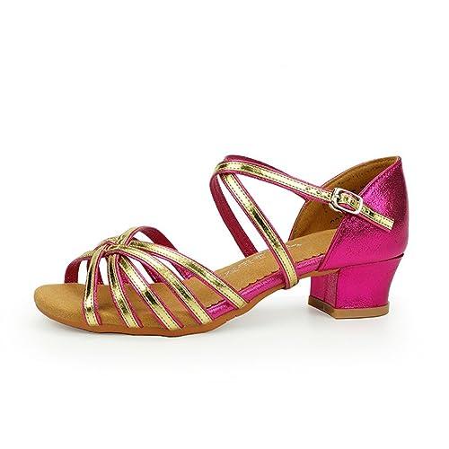 38eb606a802 WXMDDN Zapatos de Baile Latino de Las Niñas Ha Recibido La Medalla de Oro  Zapatos de Baile Al Aire Libre Ejercicio de Suelo Blando Zapatos y  Sandalias Los ...