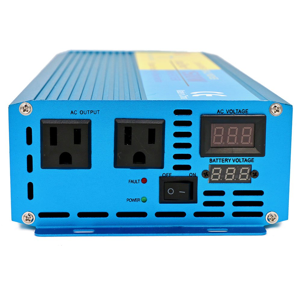 Cantonape Car Boat RV 1500W/3000W(Peak) Pure Sine Wave Power Inverter DC 12V to 110V AC with LCD Display by Cantonape (Image #3)
