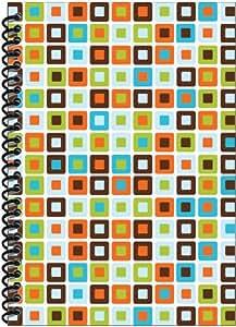 Rock Paper Spiral Notebook, Box Pattern (RP603)