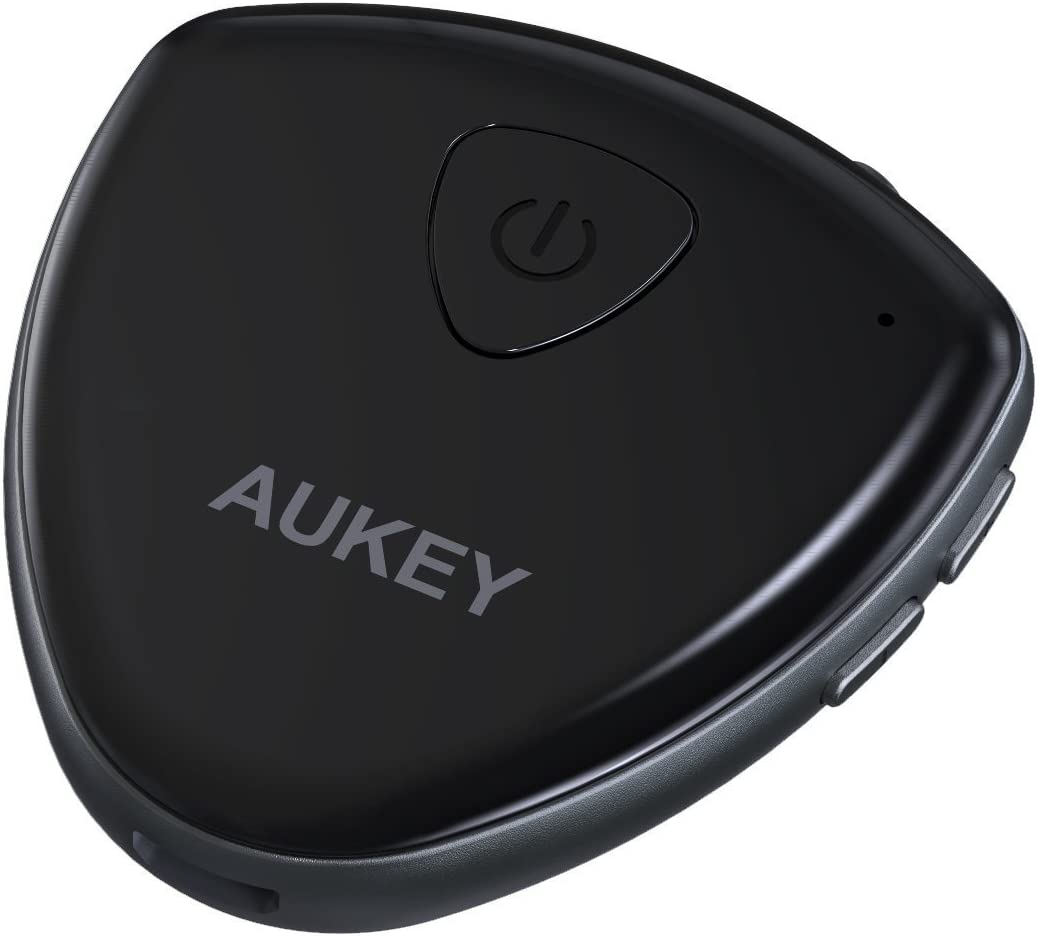 AUKEY Bluetooth Audio Transmitter and Receiver TVs and More 2-in-1 Wireless Audio Adapter with Dual Bluetooth Link for Headphones