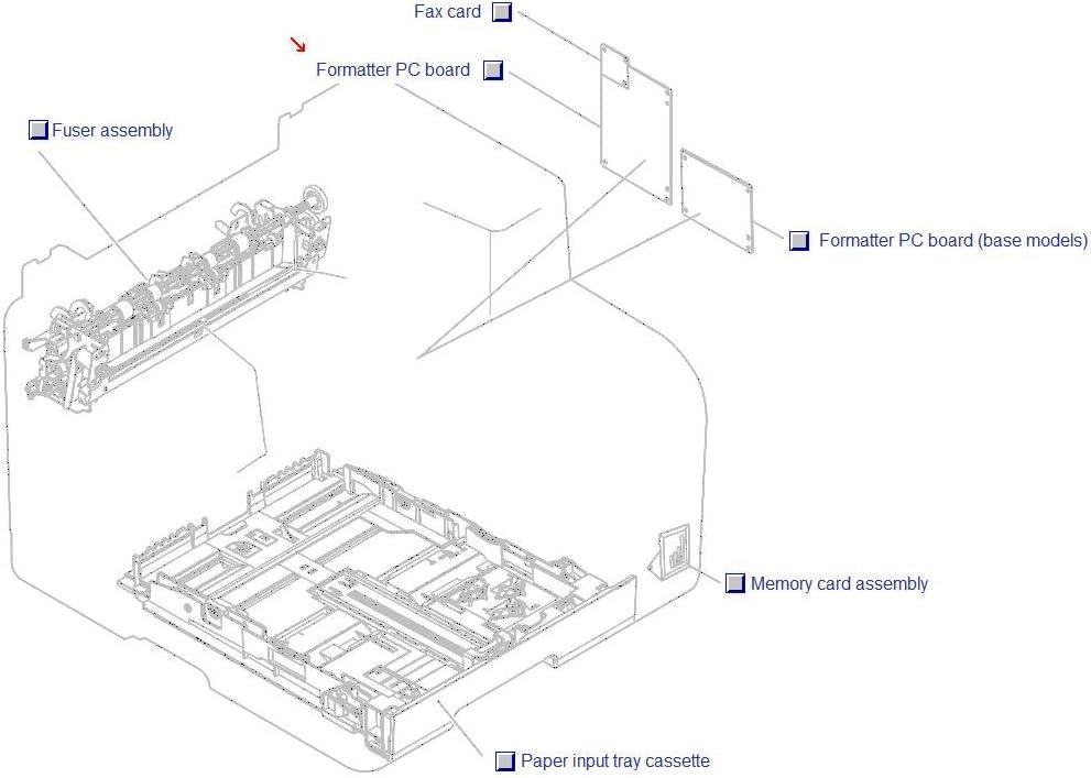 HP Color LaserJet CM1312/CM1312nfi mfp Formatter Assembly, CLJ CM1312nfi mfp CC398-60001