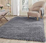 Cheap LA Rug Linens Fluffy Furry Solid Contemporary Thick Plush Pile Living Room Bedroom Floor Shag Rug Carpet Bluish Silver Patterned Large 8'x10′ Area Rug (Popcorn Blue Silver)