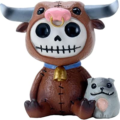 SUMMIT COLLECTION Furrybones Torro Signature Skeleton in Bull Costume with Small Doggy: Toys & Games