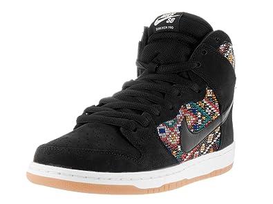 580e0bbc9038 Nike Dunk HIGH Premium SB Mens Skateboarding-Shoes 313171-030 9 -  Black Black