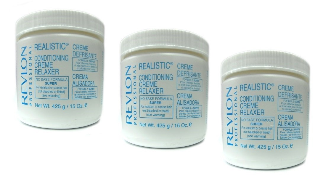 3 X Relaxer/Crema Levigante Revlon Conditioning Creme Relaxer Super 425 G (in totale – 1275 G)