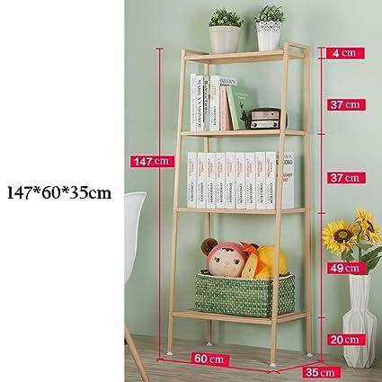 official photos a10bd 09e6e Amazon.com: ZHIRONG 4-Tier Storage Shelf Bookcase Display ...