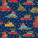 Caspari 9702RC Entertaining with Christmas Rush Continuous Gift Wrapping Paper, 8', 1-Roll, Multicolored