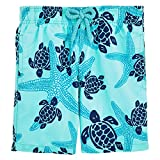 Vilebrequin Starlettes & Turtles Swim Shorts - Boys - lagoon - 2Yrs