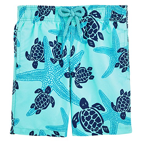 Vilebrequin Starlettes & Turtles Swim Shorts - Boys - Lagoon - 10 by Vilebrequin
