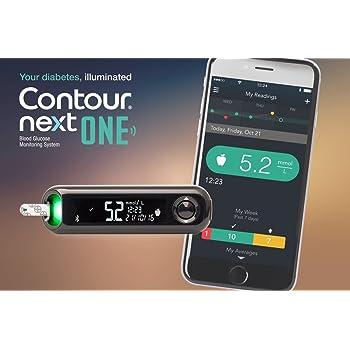 Amazon Com Bayer Contour Next One Bluetooth Glucose Meter