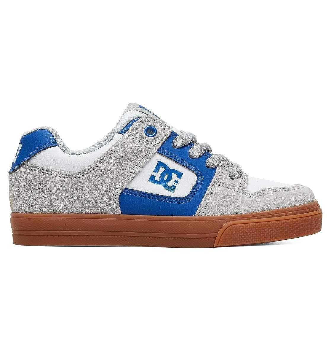 gris - gris bleu blanc DC chaussures - Pure - baskets Basses - Garçon 28.5 EU