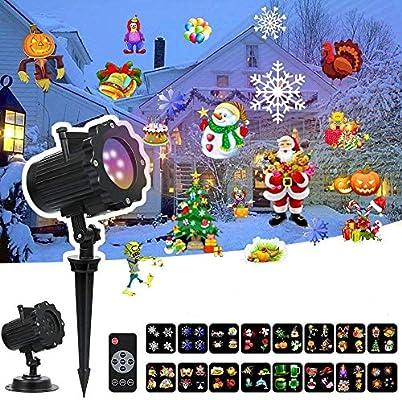 Proyector de luces LED Meerveil, con 16 colores, para Navidad ...