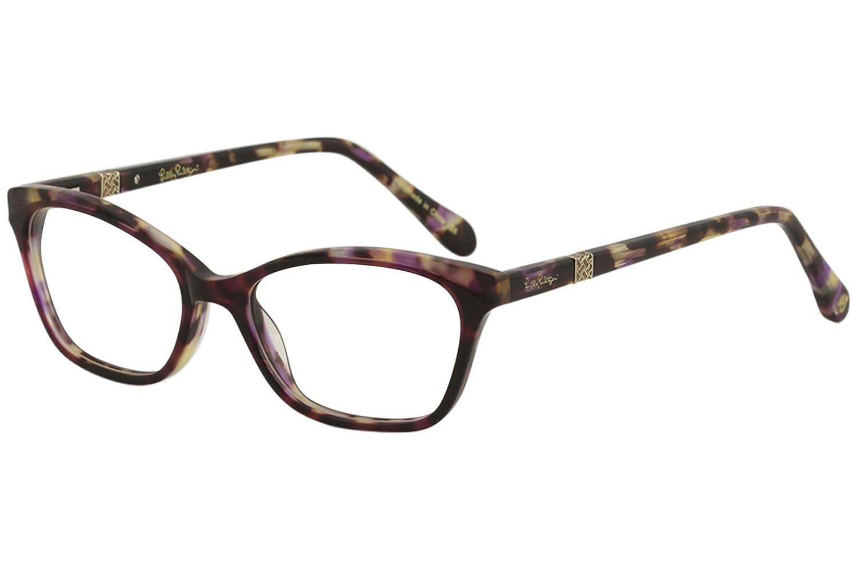 Lilly Pulitzer DUVAL Eyeglasses 49 Plum Tortoise