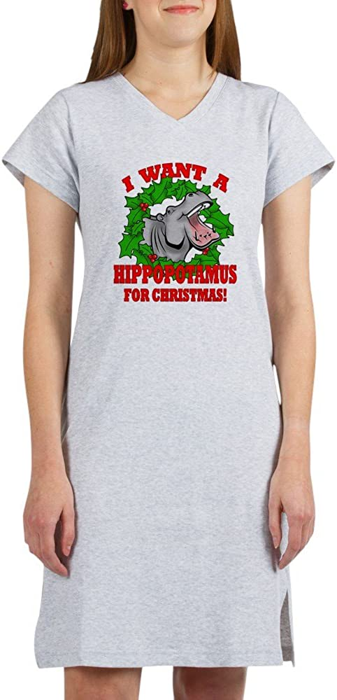CafePress Hippopotamus for Christmas Nightshirt