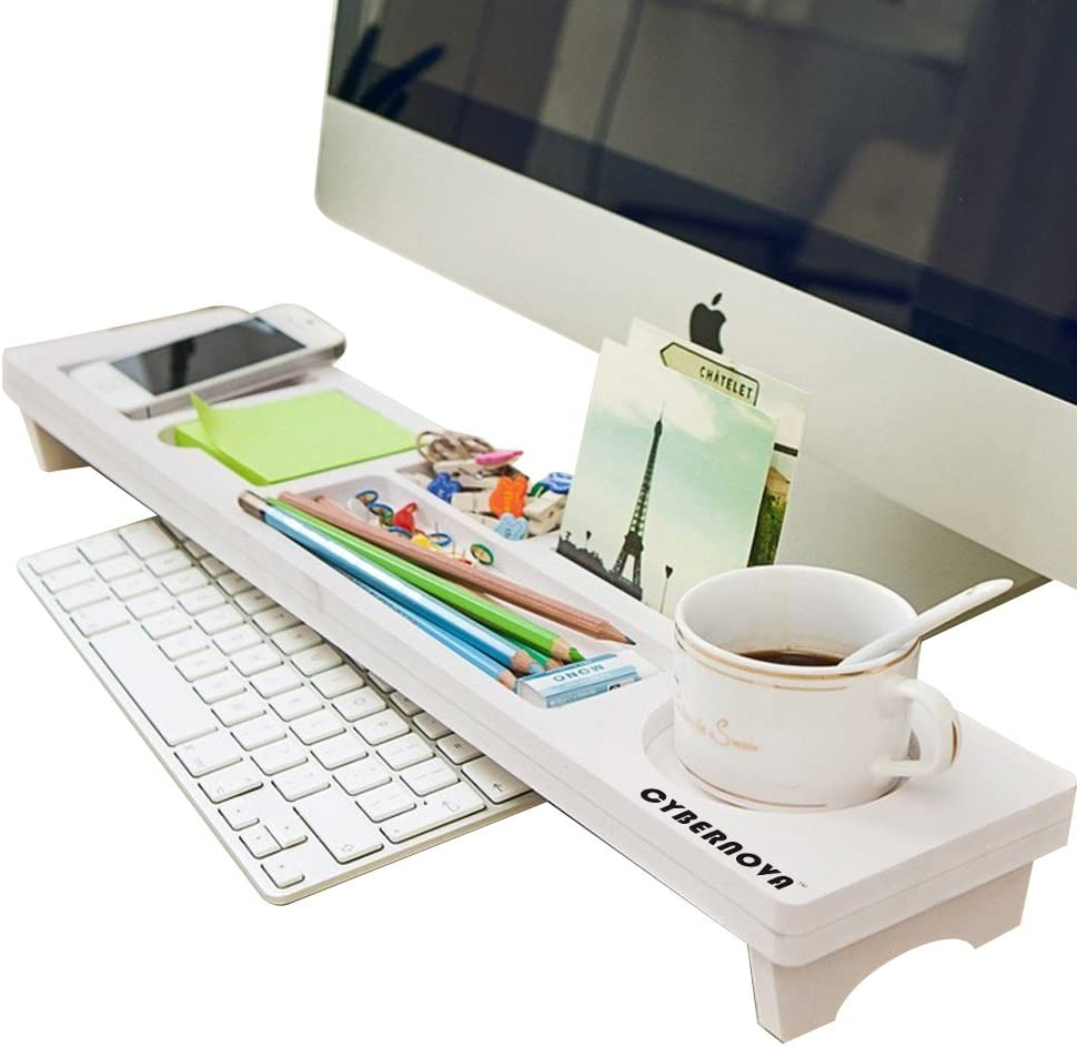 CYBERNOVA Desk Organiser Office Small Objects Storage Keyboard Commodity Shelf