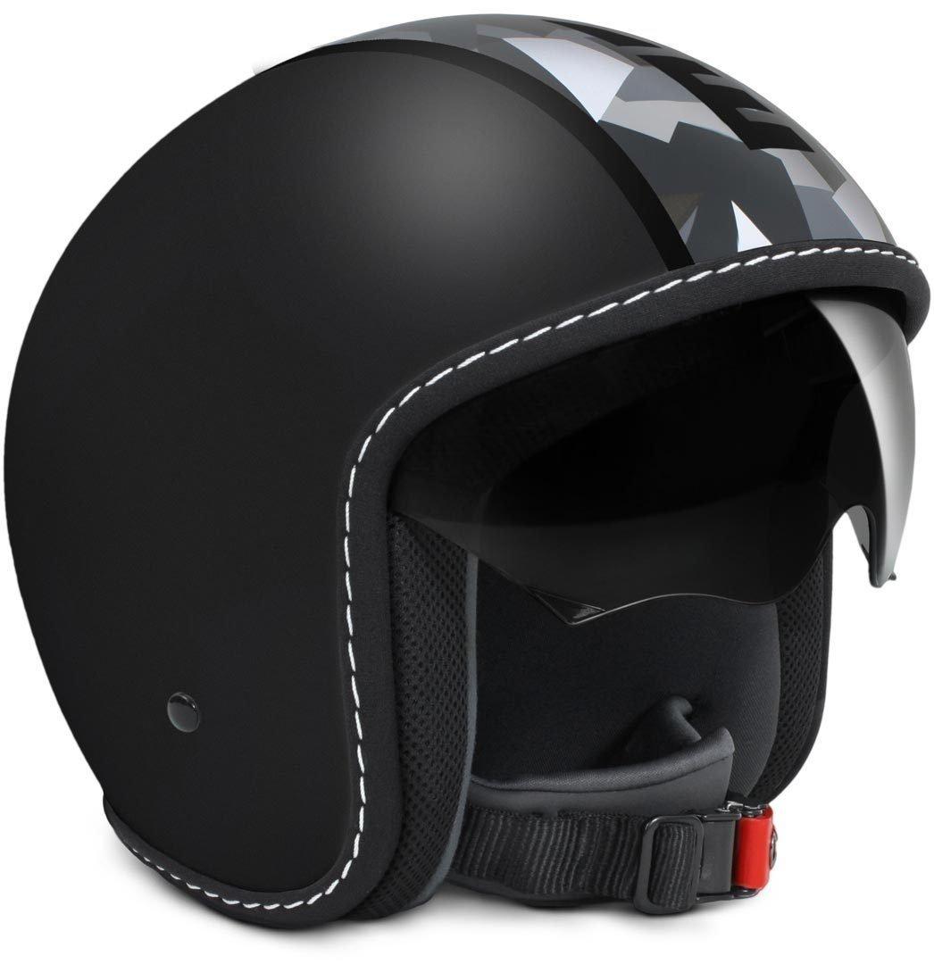 MOMO Design casco Jet Blade Negro Frost Camuflaje Talla ML