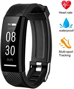 GOTSEVEN Zomma Fitness Tracker, Custom Activity Tracker with Heart Rate Monitor, Multiple Sport Modes Smart Watch Men, Women and Children Waterproof Bluetooth Pedometer