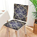 Miki home Beautiful Chair Cushion Vintage Floral Seamless Pattern Indoor and Outdoor Cushion Mat:W17 x H17/Backrest:W17 x H36