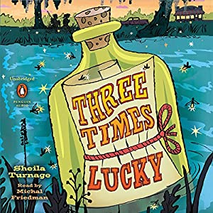 Amazon three times lucky audible audio edition sheila amazon three times lucky audible audio edition sheila turnage michal friedman listening library books fandeluxe Gallery