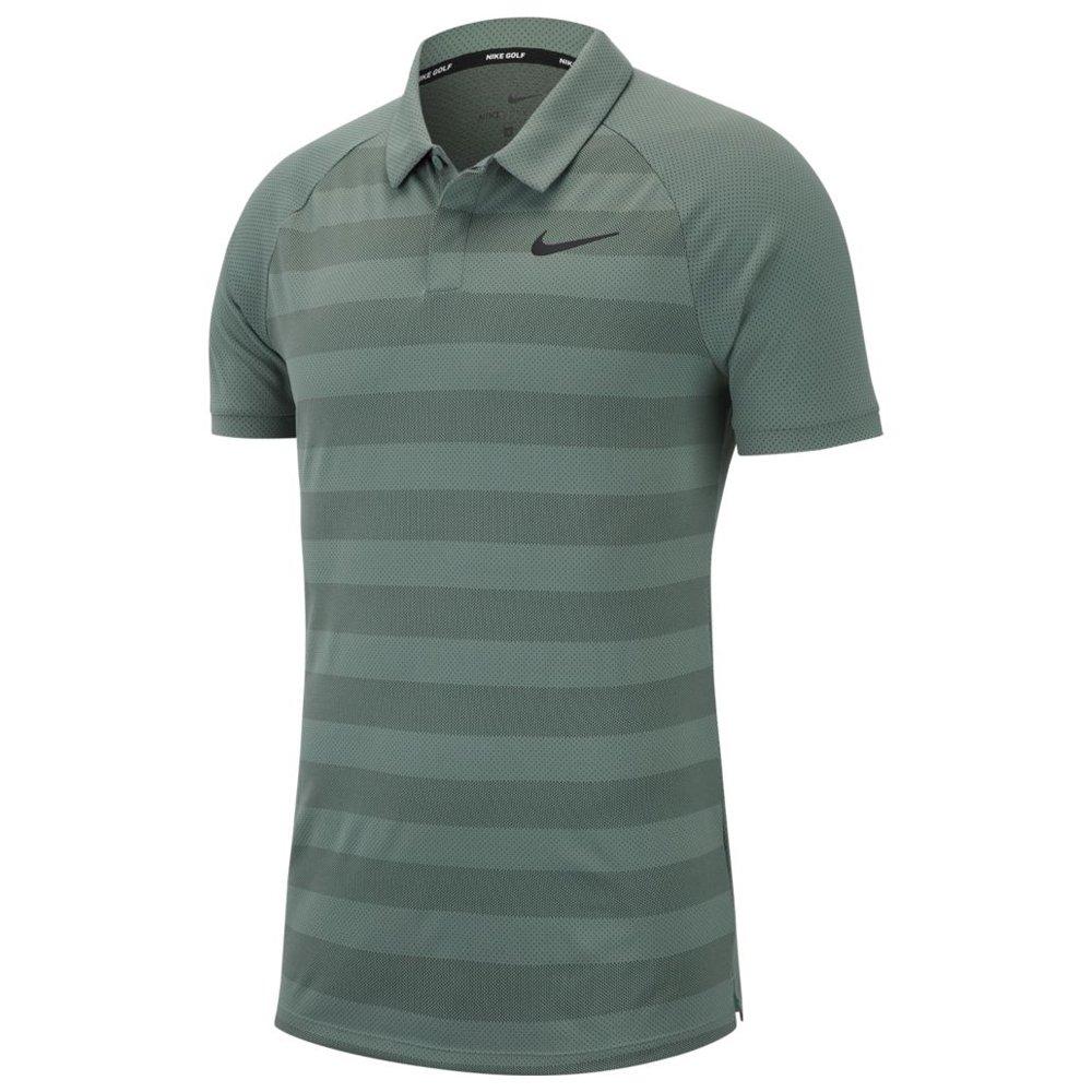 Nike Zonal Cooling Stripe STD Golf Polo 2018 Clay Green/Sequoia/Black Medium