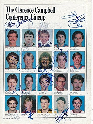 Game 1986 All Star Nhl (1986 NHL All Star Game Multi-Signed Magazine Pages Autograph Auto Y03695 - PSA/DNA Certified - Autographed NHL Photos)