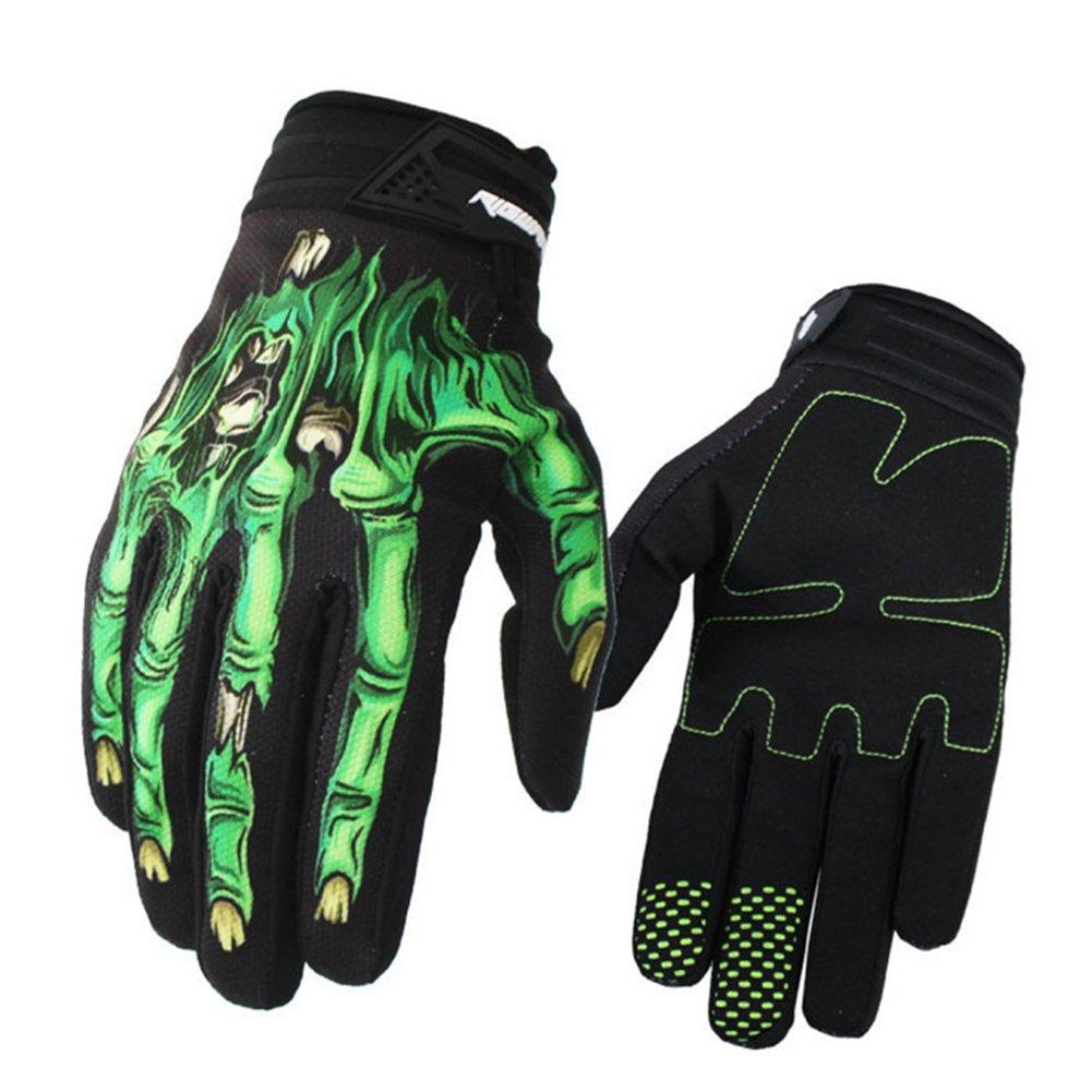 puremood Motorcycle Riding手袋ロング指手袋アウトドアスポーツフル指手袋 Large グリーン B07FJNGRZQ