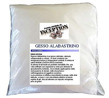 Inception Pro Infinite 1kg Yeso alabastrino Scagliola Adecuado para fundición en moldes de Silicona y más: Amazon.es: Hogar
