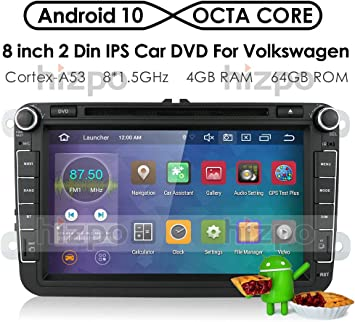 hizpo Android 10 Radio de Coche Reproductor de DVD GPS Can-Bus ...