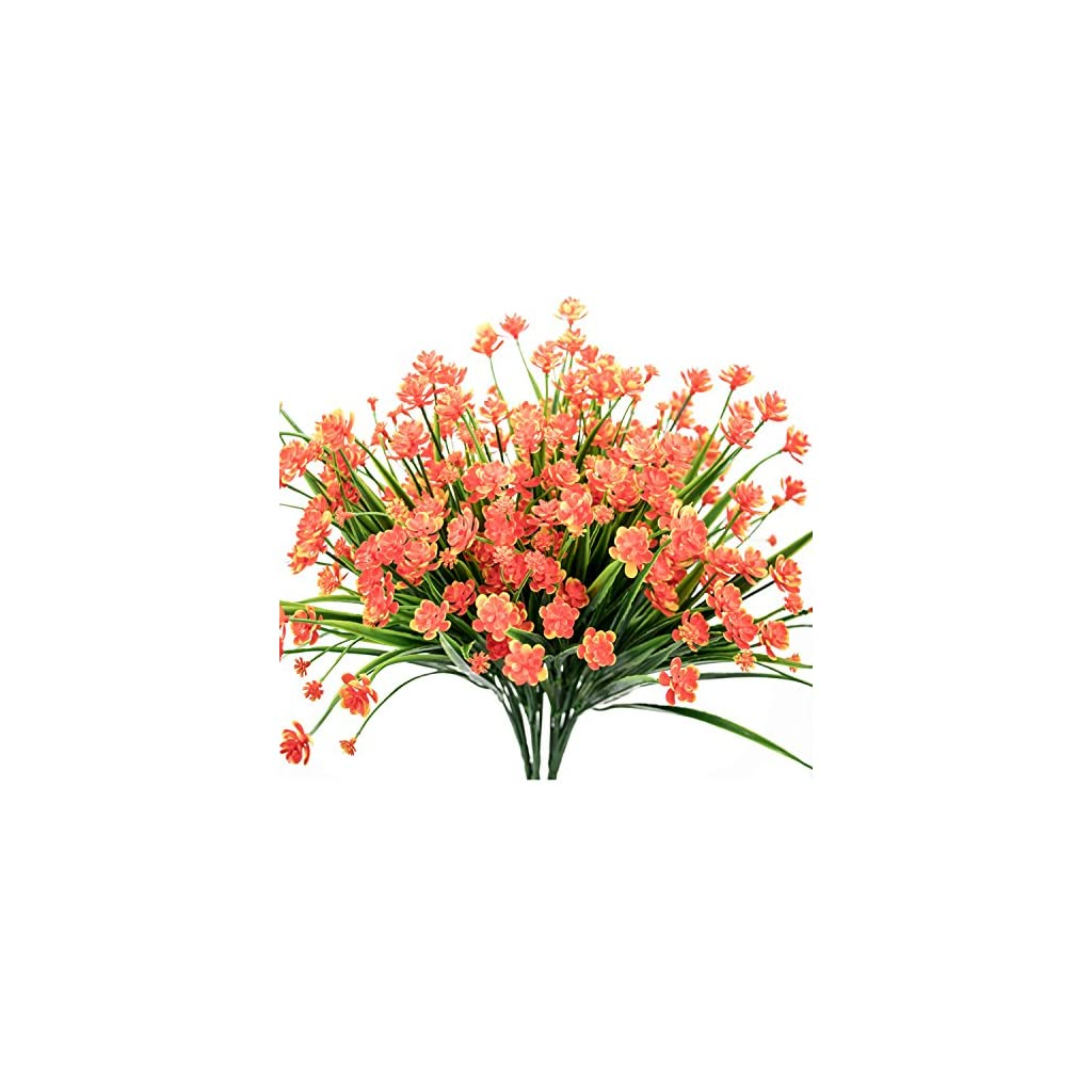 ALIDEAL-Artificial-Daffodils-FlowersFake-Plant-Outdoor-Faux-Red-Orange-Flora-Greenery-Bushes-Fence-Indoor-Outside-Decor