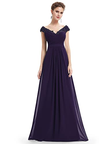 Ever Pretty Elegant Beaded Off Shoulder Evening Gown 08633
