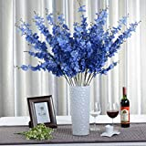 1 Bounquet Artificial Jasminum Artificial Flowers for Home Decor without Vase & Basket, 1 Flower, Blue