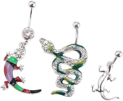 Femmes Serpent Acier Inoxydable Anneau De nombril Anneau Nombril Piercing Bijoux