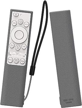 SIKAI CASE Ajustado Adapta Mando Funda de Silicona Compatible con 2019 Samsung Remote BN59-01311G / BN59-01311B TM1990C Anti-caída Carcasa de Protección a Prueba de Golpes (Gris Blanco): Amazon.es: Electrónica