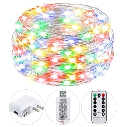 Modest 33ft 100led Copper Wire Fairy String Lights Waterproof Outdoor Light Lights & Lighting