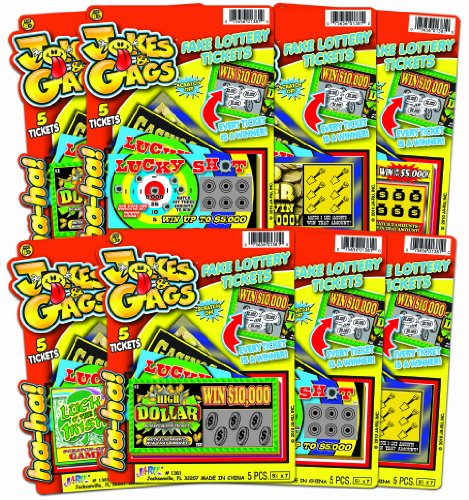 Ja-Ru Jokes and Gags Fake Lottery Tickets Party Favor Bundle Pack (Tickets Gag)
