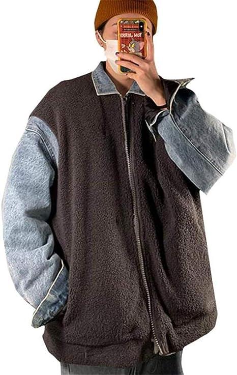 [エージョン]ボアジャケット メンズ レイヤード アウター 厚手 デニムジャケット あったか ファッション ブルゾン ボア オシャレ 秋 冬 コート