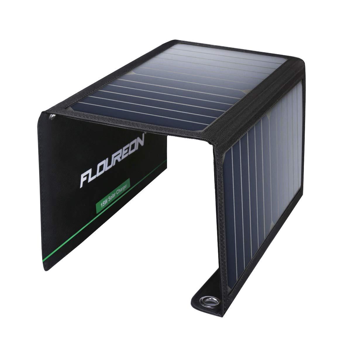 FLOUREON Cargador Solar USB de 15 W/28 W, Panel Solar ...