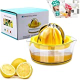 Vanleonet Lemon Squeezer Citrus Juicer with Strainer,Hand Juicer Citrus Lemon Orange juicer Fruit Juicer Lime Press Manual Ju