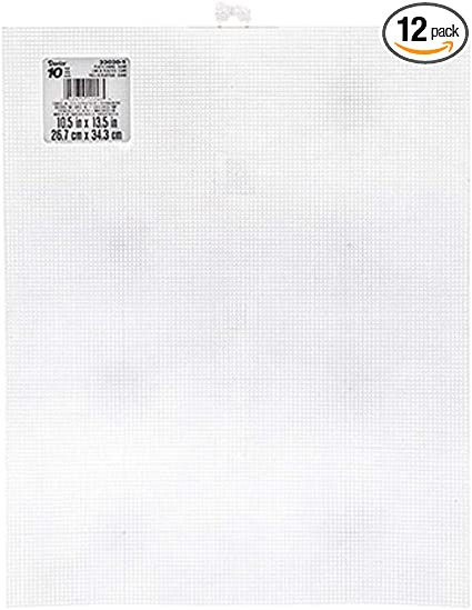 1 Darice Clear Plastic Canvas Sheet 7 Count 10-1//2 x 13-1//2 Inches 7 Mesh One