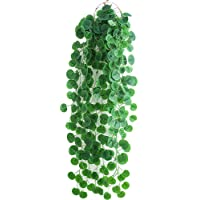 Artificial Hanging Plants Leaves - 2Pcs Fake Ivy Vine Greenery Leaves for Indoor Outdoor Garden Wedding Party Decoration…