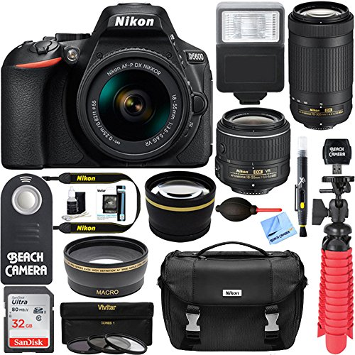 Nikon D5600 24.2 MP DSLR Camera AF-P DX...